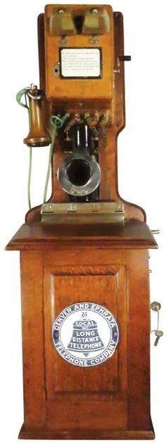 Early Oak Wall Mount Pay Telephone : Lot 788