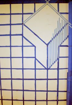 ds-diy-donna-yu-cube-wall-step3 Simple Geometric Pattern, 3d Wall Art, Acrylics, Graffiti, Projects To Try, Living Room, Google Search, Interior, Painting