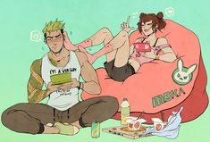 im glad blizzard made it canon that dva kicks genji's ass in video games (in case you're wondering, there are new interactions for them all, dva. Genji Overwatch, Overwatch Comic, Overwatch Memes, Overwatch Fan Art, Overwatch Drawings, Character Inspiration, Character Art, Character Design, Genji Shimada