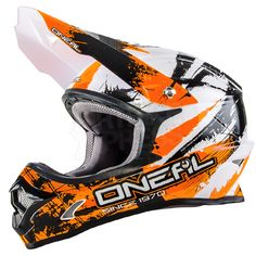 2016 ONeal 3 Series Motocross Helmet - Shocker Black Orange