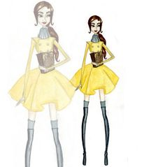 #Disney #princess #fashion #illustrations : #Belle #beauty and the #Beast