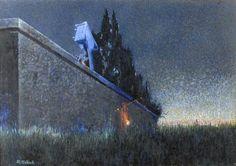 Alphonse Osbert, By the Cemetary Wall (?)   Dark Classics