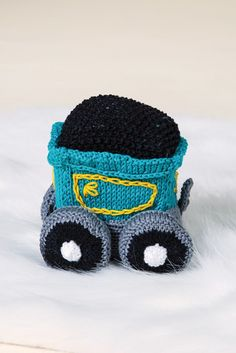 The darling Circus Train Coal Car by Megan Kreiner is the second in our Love of Knitting toy train series. #allaboard