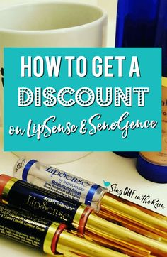 There are multiple ways to get a discount on LipSense and other SeneGence products. #lipsense #senegence #getadiscount #discountonlipsense