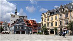 Zwickau. Gebäude am Hauptmarkt.  12.08.2014
