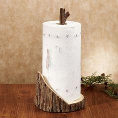 Rustic Timber Paper Towel Holder