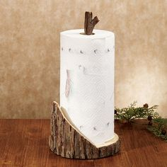 Rustic Timber Paper Towel Holder