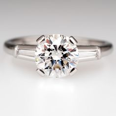 1.5 Carat Diamond Vintage Engagement Ring