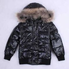 Cheap Moncler Down Jackets In Black with Hoody MC165 Outlet-6327