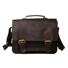 Genda 2Archer Genuine Leather Vintage School Bag Shoulder Messenger Bag for Men ** Find out more about the great product at the image link. (This is an Amazon Affiliate link and I receive a commission for the sales)