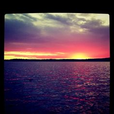 The lake at sunset - heavenly!