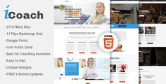 cool iCoach - For Coaches, Speakers, Fitness Trainers &amp Entrepreneurs HTML5 Template (Small business)