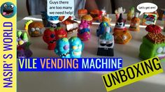 Watch as things get messy when Nasir does another Grossery Gang unboxing toy review of his new festering friends the Grossery Gang. These filthy good guys prepare to defend themselves against the Clean Team. This unboxing includes the Grossery Gang Vile Vending Machine! With 20 characters included it's so easy to bulk up your collection!  Who will Nasir find inside his when he opens his mystery surprise crates?