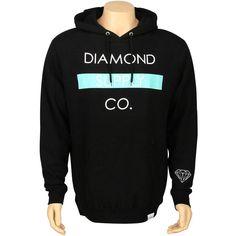 Diamond Supply Co Bar Hoody in black