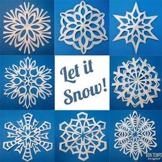 how to fold and cut great snowflakes