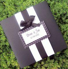 Polka Dot wedding invitation black white wedding by TheExtraDetail, $5.75