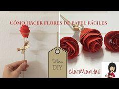 Cómo hacer flores de papel fáciles | ClariManitas