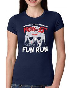 Look at this Navy Blue 'Camp Crystal Lake' Fitted Tee on #zulily today!