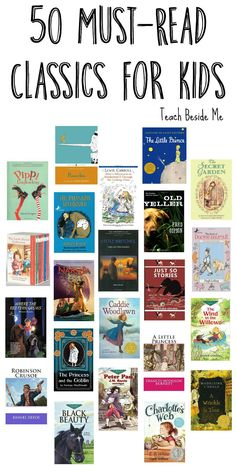 50 Must Read Classics for Kids : 50 Must Read Classics for Kids - Teach Beside Me Looking for a great book list for your kids? This is the list of must-read Classic books for kids! Plus a great resource for used books! Kids Reading, Teaching Reading, Reading Lists, Book Lists, Reading Books, Reading Quotes Kids, Reading Response, Used Books, Books To Read