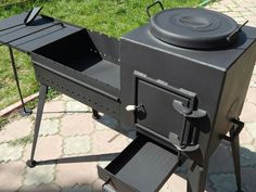 Lovely BBQ or. Outdoor Stove, Outdoor Fire, Outdoor Kocher, Garage Canopies, Bbq Stove, Wood Burning Heaters, Custom Bbq Pits, Barbecue Design, Grill Barbecue