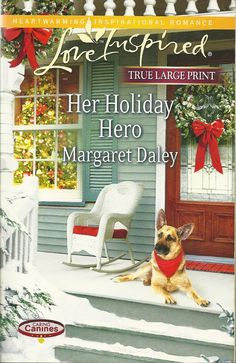 """• Series: Love Inspired True Large Print Heartwarming Inspirational Romance •Title: Her Holiday Hero Book 2 in the Caring Canines Series  •Author:  Margaret Daley  • Paperback: 358 pages • Publisher: Harlequin Love Inspired Heartwarming; Larger; 1ST edition (2013) • Language: English • ISBN-10: 0373189583 • ISBN-13:   978-0373189588 • Product Dimensions: 5.5"""" x 8.25"""" x 1""""  •Condition: Very Good, no markings, tears, or rips. Tight Binding, soft cover shows some minor wear, Read Once and…"""