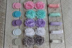 DIY Pastel Shabby Headband Kit