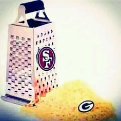 niners shredded it. sucks to suck packers. 49ers Vs Packers, Packers Funny, Nfl 49ers, 49ers Fans, Green Bay Memes, Sf Football, Cheese Grater, San Francisco 49ers, Green Bay Packers