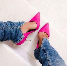 Sapato feminino de salto alto rosa