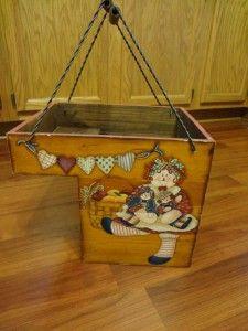 Stair Basket Box Wood