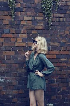 sunglasses, Karen Walker // playsuit, Zimmerman // necklace, Samantha Wills (image: zanita)