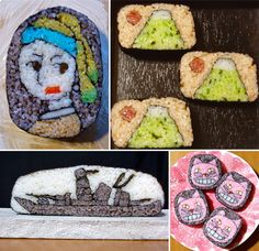 """Credit Where Credit is Due: Creator of These Amazing Sushi Roll """"Drawings"""" is a Female Illustrator, Not a Male Sushi Chef - Core77"""
