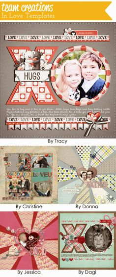 In Love Templates and Cards: CT Inspiration