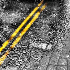 Double yellow lines Weather Cloud, Rainy Weather, Double Yellow Lines, Drizzling Rain, Rain Go Away, Splash Photography, Rain Storm, Yellow Pages, Going To Rain