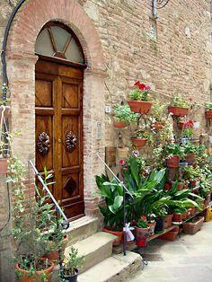 Front Door  in Tuscany region of Italy -  by Ellen Henneke   ..rh