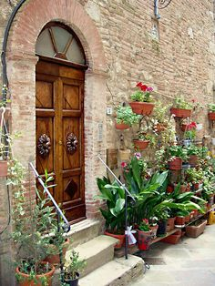 Front Door  in Tuscany region of Italy -  by Ellen Henneke