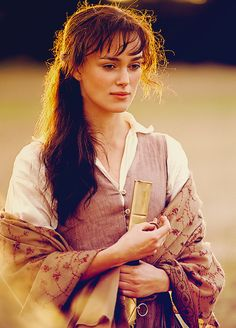 Keira Knightly as Elizabeth Bennett, Pride & Prejudice