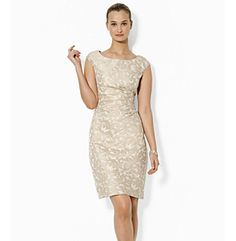 Lauren Ralph Lauren® Cap-Sleeved Jacquard Dress at www.herbergers.com