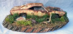 1968 Dodge Charger RT Barn Find Weathered Pro Built Diorama Revell 1 25 Plastic | eBay