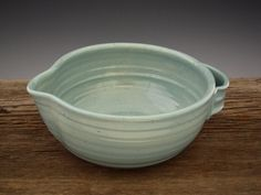 Batter Bowl in Vintage Turquoise - Kitchen Bowl - Country Style  - Omelette Bowl - Pottery Bowl - by DirtKicker Pottery. $33.00, via Etsy.