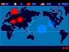 Isao Hashimoto's Time-Lapse Map of the World's 2053 Nuclear Explosions