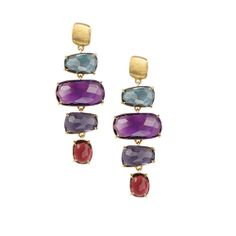 Marco Bicego yellow gold stone earrings, from the Murano Color Collection. Available at TIVOL.