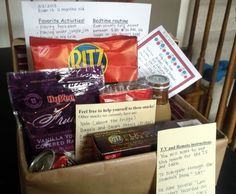 Have a babysitter box filled with everything the babysitter might need.