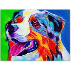Trademark Fine Art Aussie Canvas Art by DawgArt, Size: 14 x 19, Multicolor