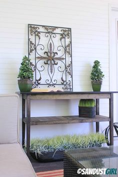 So cute, I love it. DIY console table. via @Sandra Pendle Powell {Sawdust Girl}