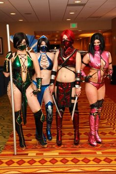 Ladies of Mortal Kombat, Jade, Kitana, Scarlet and Mileena - Imgur