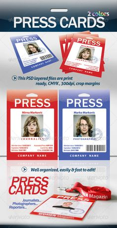 1000 images about print templates on pinterest flyer for Media press pass template