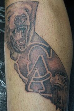 California tattoo maybe with the l a skyline too for California bear tattoos
