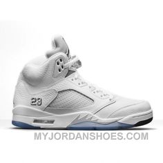 best loved 9b5c6 9d311 Authentic 136027-130 Air Jordan 5 Retro White Metallic Silver-Black (Men  Women) YxT38