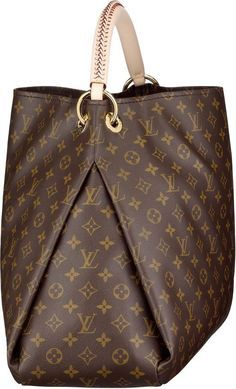 Louis Vuitton Artsy GM. - Good idea for making bags with a lot of space in the bottom.