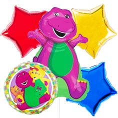 Barney and Friends Balloon Bouquet - Party Wholesale Centre